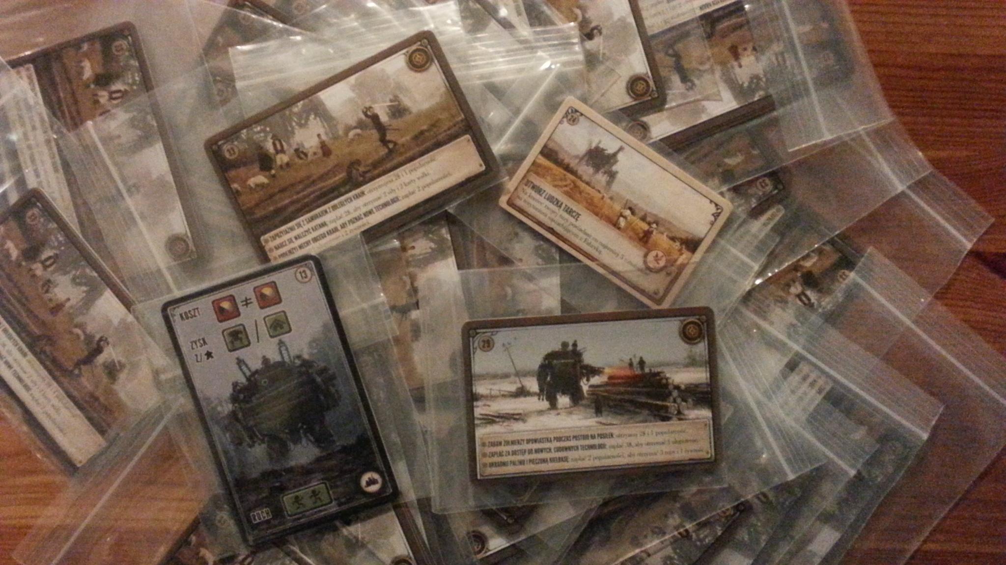 Dodatkowe karty do gry Scythe
