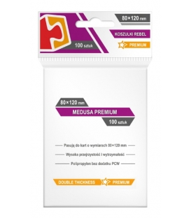 "Koszulki na karty Rebel (80x120 mm) ""Medusa Premium"", 100 sztuk"