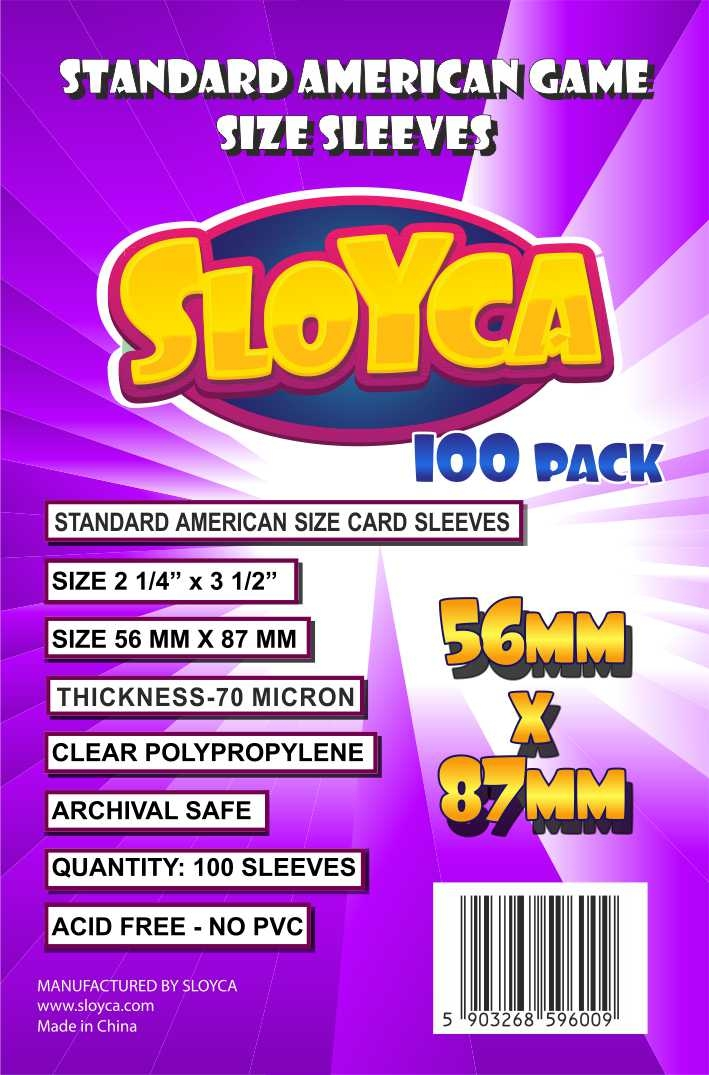 lila Standard USA Game Size Sleeves 100 - 7040 56 x 87mm
