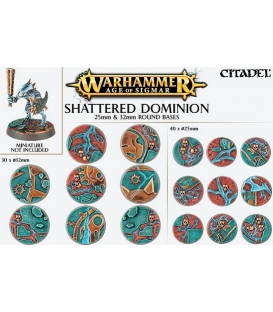 Citadel - Warhammer Age of Sigmar - Shattered Dominion 25mm & 32mm Round Bases