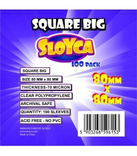 SLOYCA Koszulki Square Big (80x80mm) 100 szt.