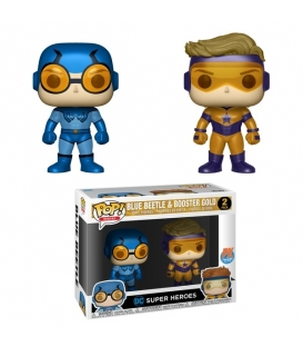 Funko POP DC 2 Pack: Blue Beetle & Booster Gold Metallic (Exc) (CC)