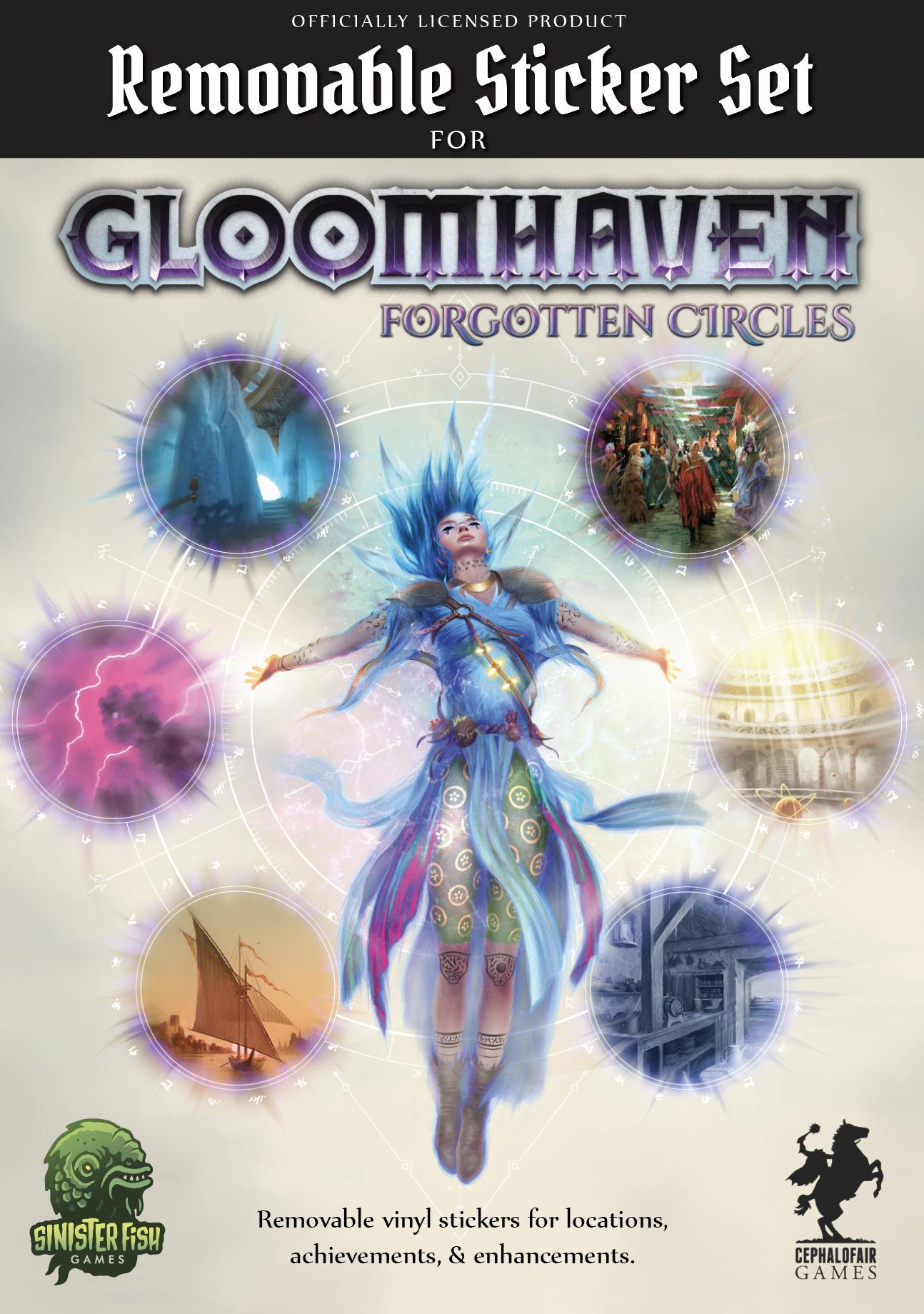 Gloomhaven - Removable Sticker Set: Forgotten Circles (zestaw naklejek)