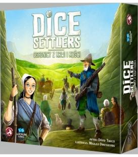 Dice Settlers: Osadnicy z Kwi i Kości + Kafle i Karta (gra uszkodzona)