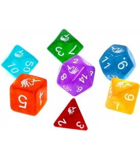 Komplet kości REBEL RPG - Jednorożce