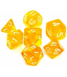 Komplet kości REBEL RPG - Kryształowe - Żółte