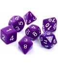Komplet kości REBEL RPG - Matowe - Fioletowe