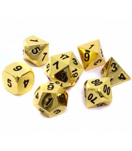 Komplet kości REBEL RPG - Metal - Złoto