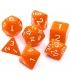 Komplet kości REBEL RPG - Matowe - Pomarańczowe