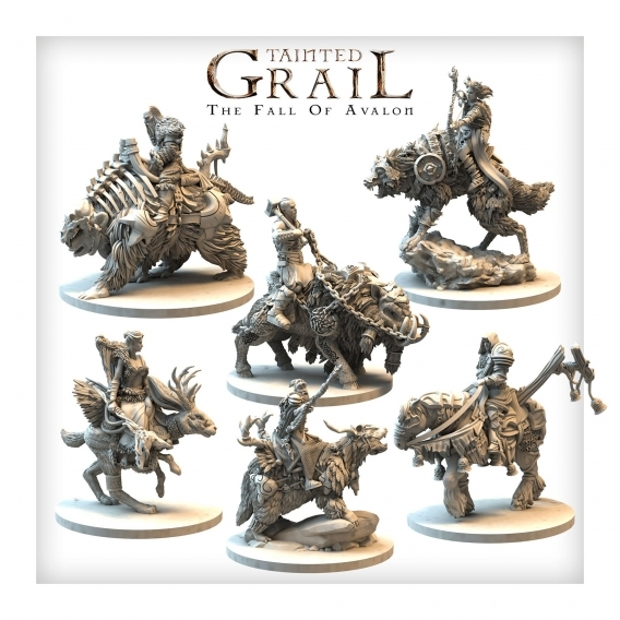 Tainted Grail: The Fall of Avalon Mounted Characters Set