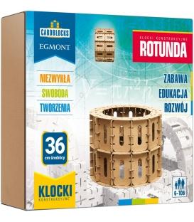 Kartonowe klocki konstrukcyjne CARDBLOCKS. Rotunda