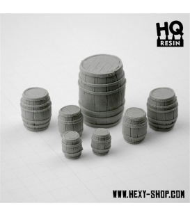 Wooden Barrels Set