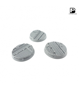 50mm Round Industrial Bases x 3