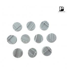 25mm Round Industrial Bases x 10