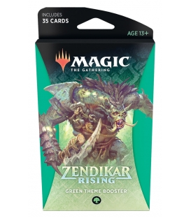 Magic The Gathering: Zendikar Rising - Green Theme Booster