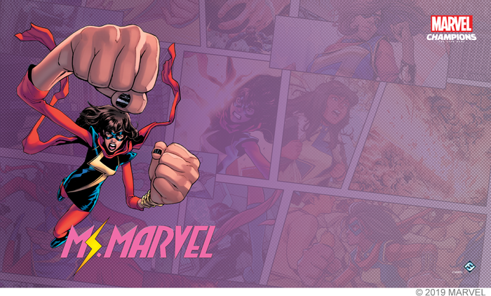 Marvel Champions: Ms. Marvel Game Mat