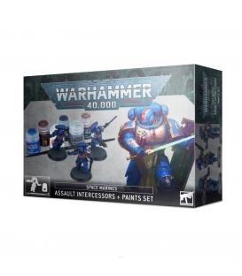 Warhammer 40,000: Assault Intercessors + Paints Set