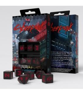 Zestaw kości podstawowych Cyberpunk Red ( cztery k6 i dwie k10)