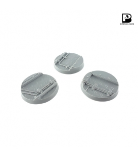 40mm Round Industrial Bases (x3)
