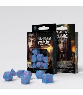 Kości RPG Klasyczno Runiczne Arktyczno-różowe (7)