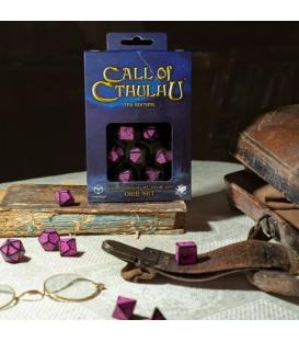 Kości RPG Zew Cthulhu 7. Edycja - Czerń i magenta