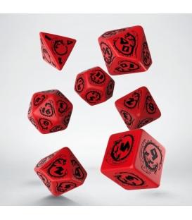 Kości RPG Smocze Czerwono-czarne (7)