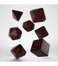 Kości RPG Elfickie Czarno-czerwone (7)
