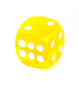 Kość REBEL kryształowa 6 Ścian - 16 mm - Oczka - Żółta