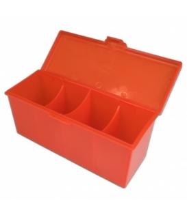 Blackfire 4-Compartment Storage Box - Red