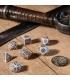 Wiedźmin, zestaw kości RPG. Geralt - Biały Wilk (przedsprzedaż)