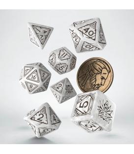 Wiedźmin, zestaw kości RPG. Geralt - Biały Wilk