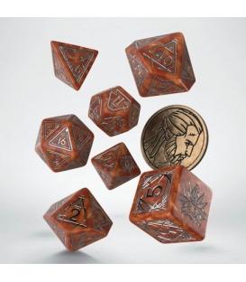 Wiedźmin, zestaw kości RPG. Geralt - Łowca Potworów (przedsprzedaż)