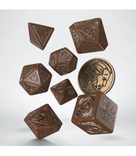 Wiedźmin, zestaw kości RPG. Geralt - Druh Płotki (przedsprzedaż)