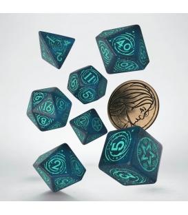 Wiedźmin, zestaw kości RPG. Yennefer - Mistrzyni Magii (przedsprzedaż)