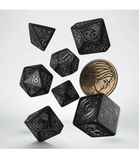 Wiedźmin, zestaw kości RPG. Yennefer - Obsydianowa Gwiazda (przedsprzedaż)