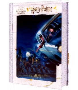 Harry Potter: Magiczne puzzle - Księga - Ford Anglia nad Hogwartem (300 elementów)