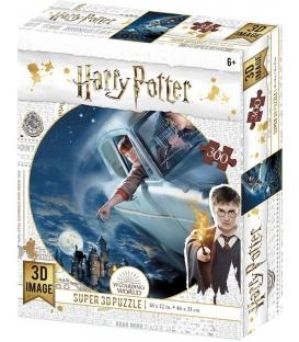 Harry Potter: Magiczne puzzle - Ford Anglia nad Hogwartem (300 elementów)