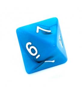 Kość REBEL dwukolorowa 8 Ścian - Cyfry - Czarno-niebieska