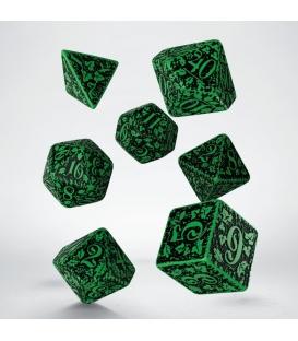 Kości RPG Leśne 3D Zielono-czarne (7)