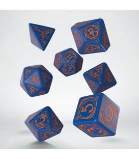 Kości RPG Magów Granatowo-Pomarańczowe