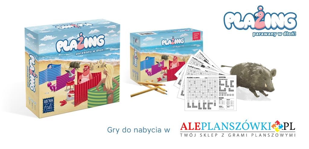 Plażing – parawany w dłoń + Plażing – Roll&Write + print&play